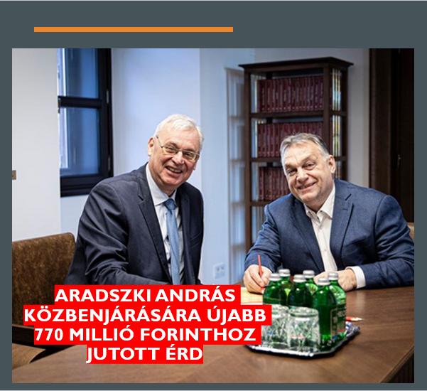 770 millió forint rendkívüli támogatást kapott Érd a kormánytól